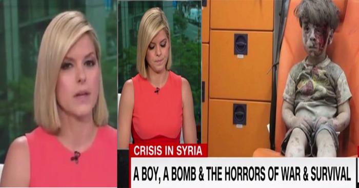 CNN Reporter Cries For Omran Syrian Kid ISIS Terror War Horror