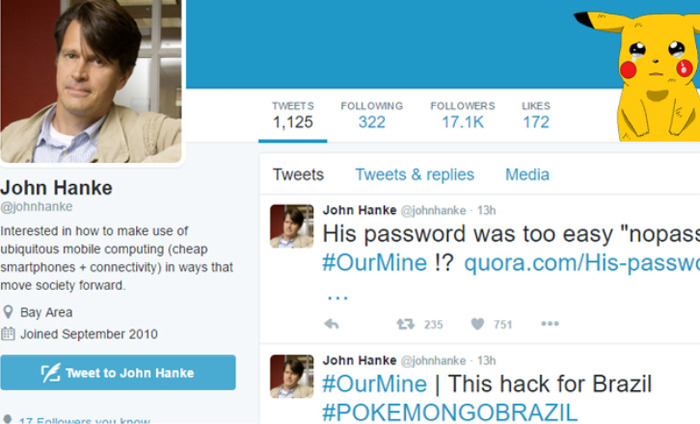 Hacking Group OurMine Hacks Niantic CEO's Twitter Account