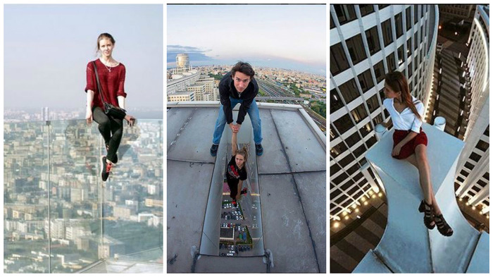 This Woman Poses On Top Of Skyscrapers To Take Dangerous Selfies