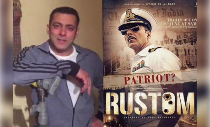Sultan Salman Khan Promoting Akshay Kumar's 'Rustom'