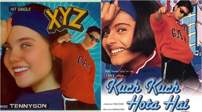 Album Cover Of Latest Single 'XYZ' Is A Mirror Image Of Kuch Kuch Hota Hai Poster