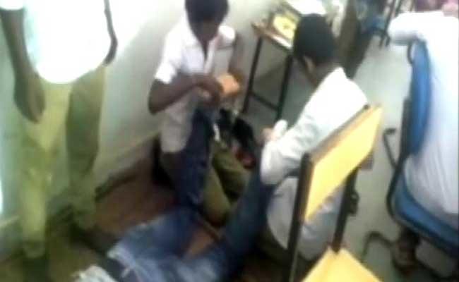 OMG! Chhattisgarh Teacher Gets Foot Massage From Students