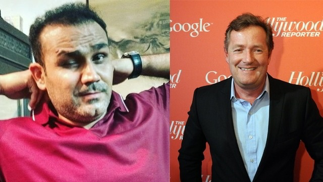 Virender Sehwag And Piers Morgan's Twitter Battle Is Not To Be Missed!
