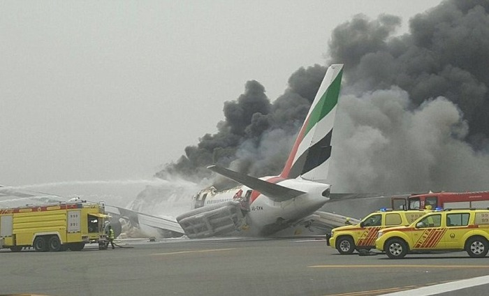 Breaking News: An Emirates Boeing 777 Crash Landed At Dubai Airport
