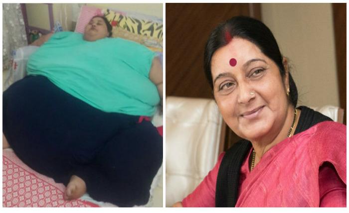 Sushma Swaraj Helps World's Heaviest Woman From Egypt