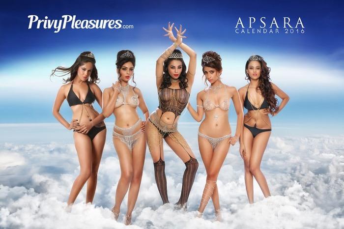 Apsara Calendar - Sexiest Lingerie Calendar Of 2016