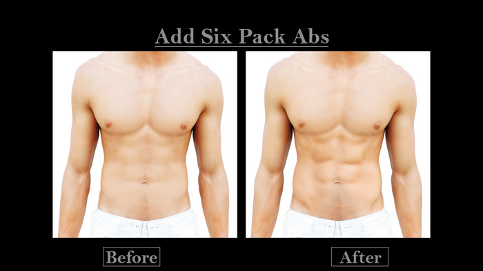 Professional Photo Editing - Six Pack Abs