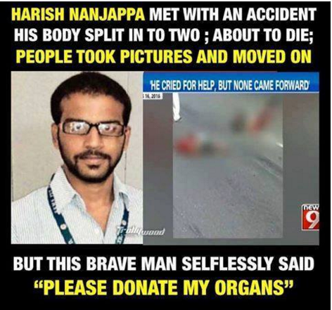 Salute The Real Hero Harish, Who In A Time Of Death Looked Towards Humanity