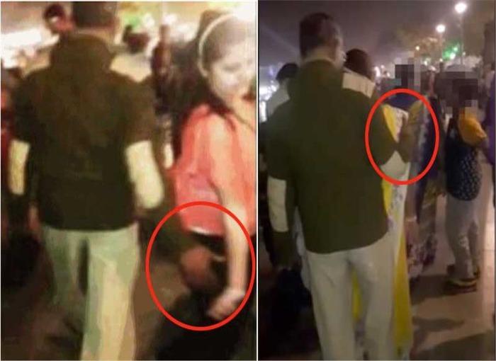 Disgusting: Cop Caught Groping Women In Ahmedabad
