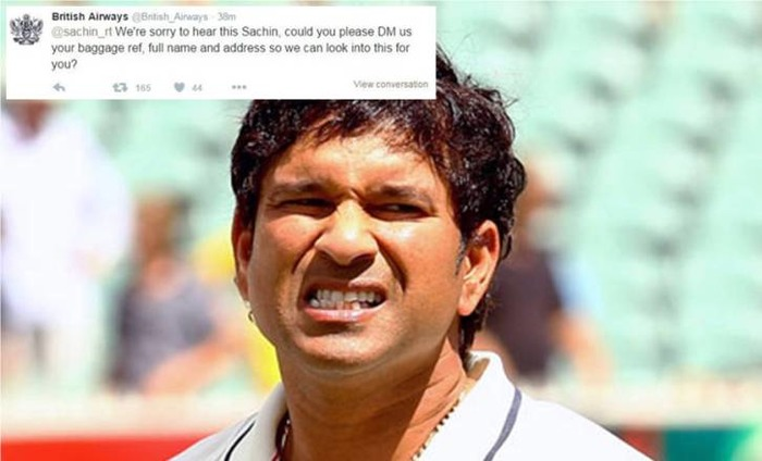British Airways Mistakenly Trolls Sachin Tendulkar On Twitter!