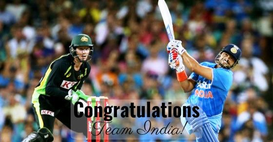 Team India Wins T20 Series Against Australia 3-0, Virat Kohli Wins Man Of The Series!