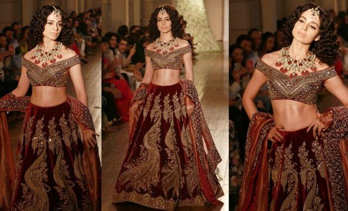 Kangana Ranaut's Mughal Empress Look For Manav Gangwani Rocked India Fashion Week