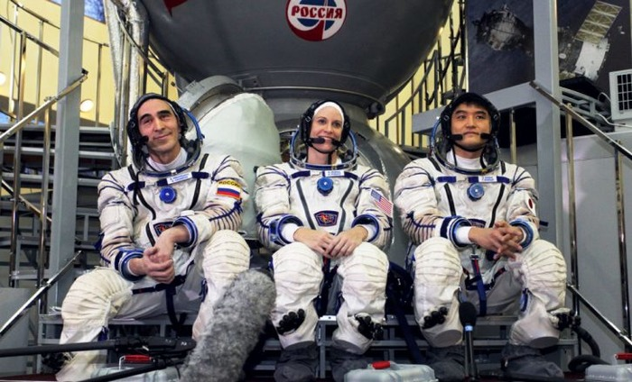 Three NASA Astronauts On Their Way To The International Space Station