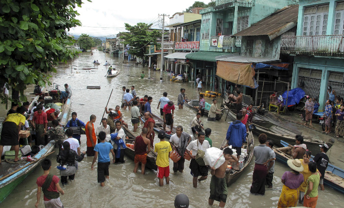Heavy Flooding In Myanmar Affects Over 6,000 Lives In The State