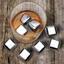 Amazing Gadgets - HealthPro Reusable Silver Stainless Steel Ice Cubes