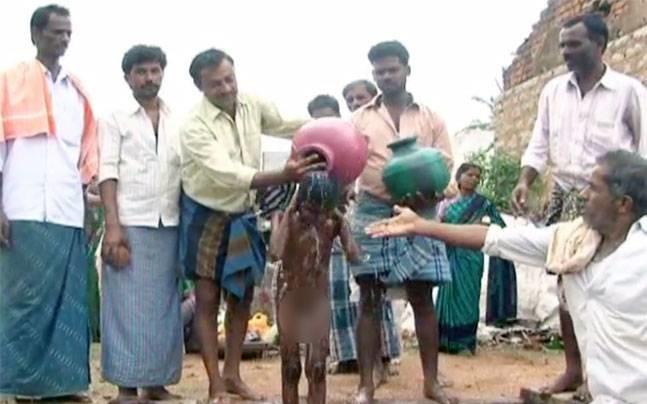 Child Paraded Around Naked As A Plea To The Rain Gods In Karnataka