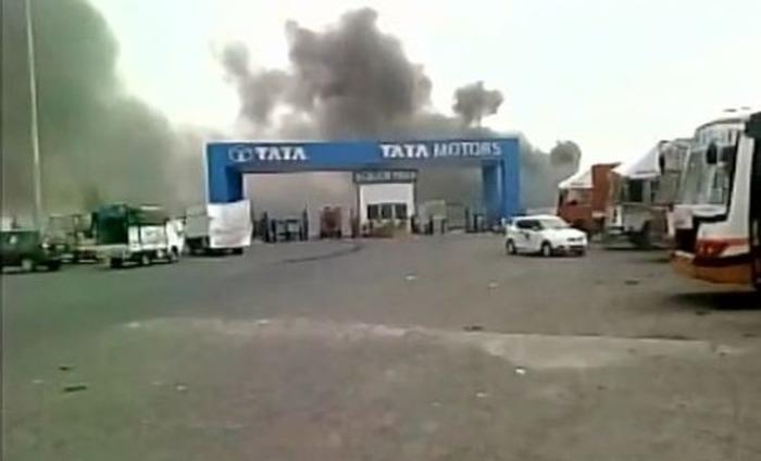 Fire At Ancillary Unit Of Tata Nano Plant In Gujarat