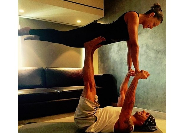 Bipasha And KSG'S HOT Photo Will Make You Want To Join YOGA Right Away