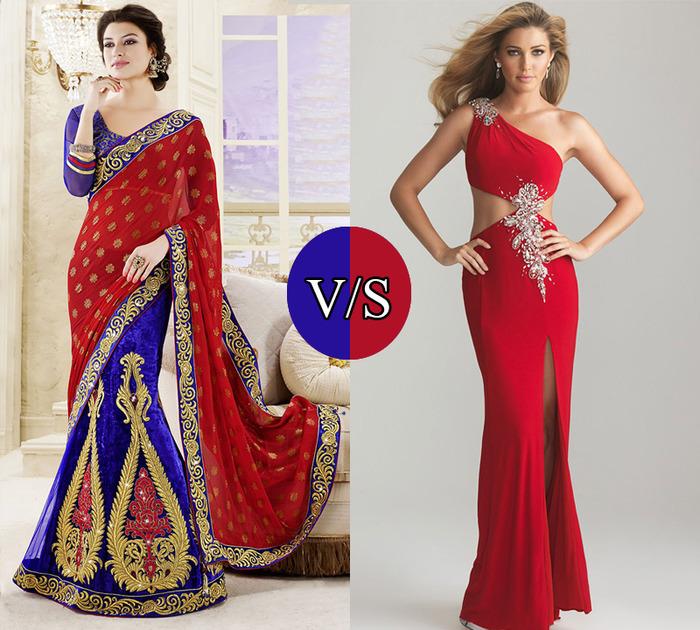 Indian Vs Western Fashion..