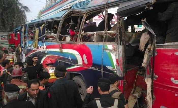 Bus Blast Kills 15 & Injures 30 In Peshawar, Pakistan