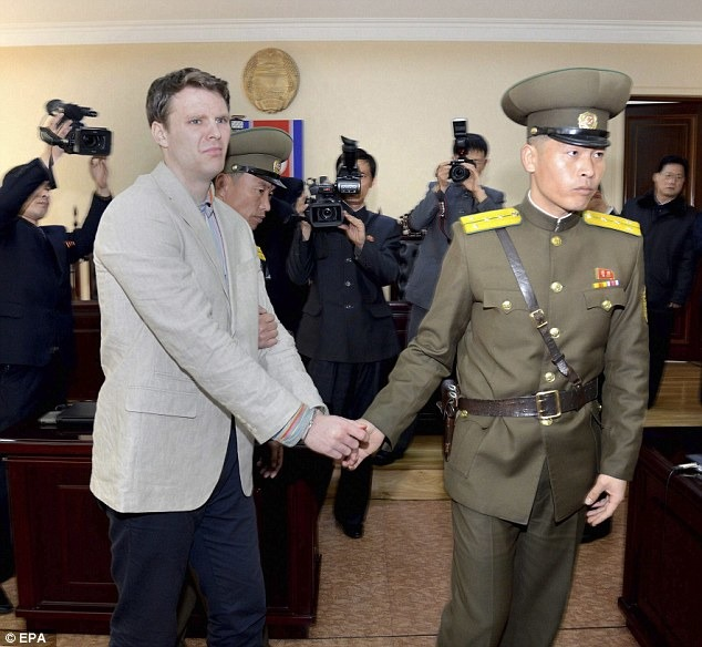American Student Sentenced To 15 Years Of Hard Labour In North Korea For Stealing!