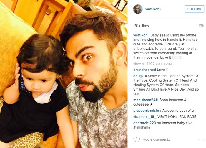 Virat Kohli Shared A Picture With Ziva Dhoni And We're Melting!