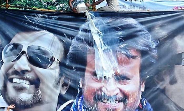 Rajinikanth's Milk Bath Gets Him Into Trouble; Served Notice