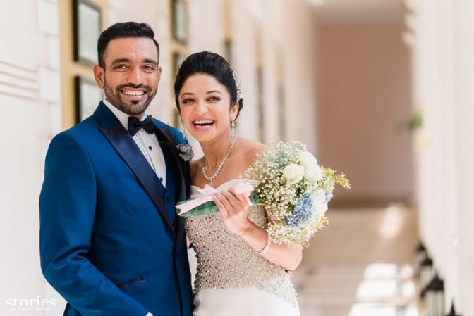 Robin Uthappa Tied The Knot With Fiancee Sheetal Gautam On Thursday, March 3, 2016.