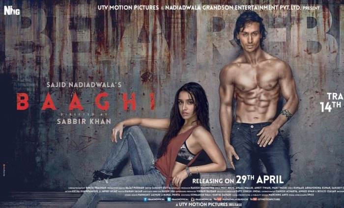 The Official Poster Of Tiger And Shraddha Starrer Baaghi Is Out