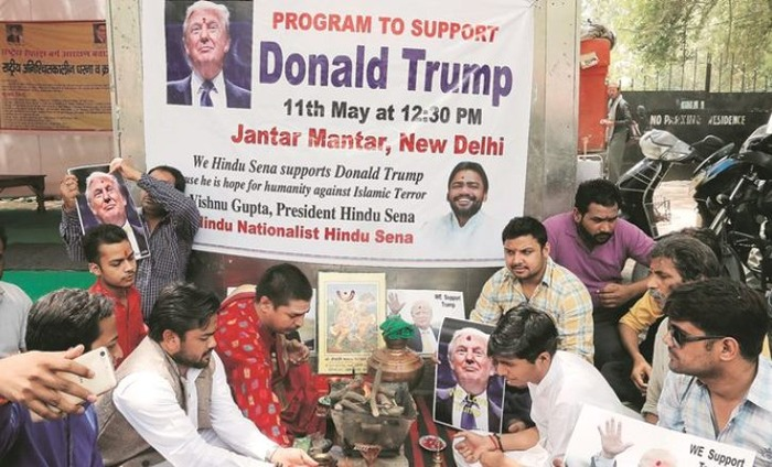 Hindu Sena Performs Havan For Donald Trump's Sucess