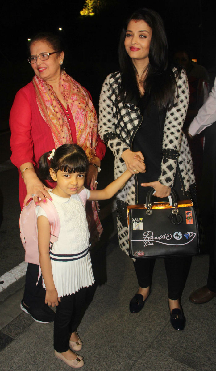 Aishwarya Rai Bachchan Spotted Leaving For Cannes With Her Daughter And Mom