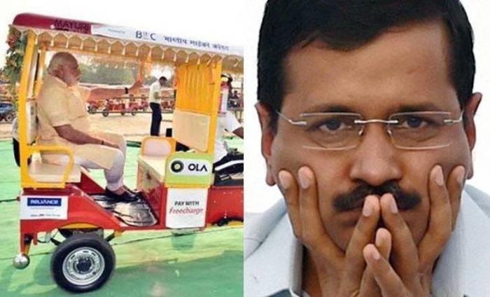 Arvind Kejriwal Takes A Dig At PM Modi's E-Rick Ride