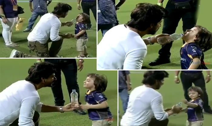 AbRam Seems To Be Having The Time Of His Life At Eden Gardens With Daddy Shah Rukh Khan!