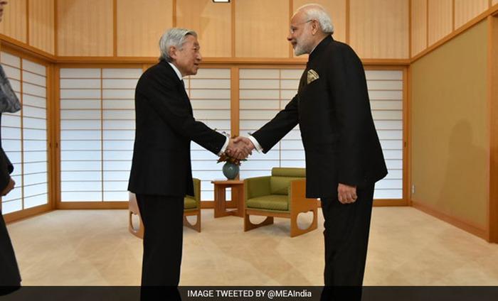 Narendra Modi Meets Japanese Emperor Akihito