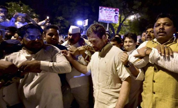 Rahul 'Detained' By Police From Congress Protest March