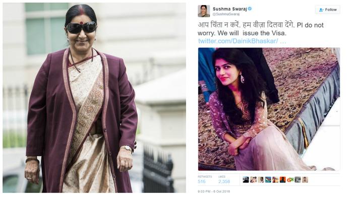 Sushma Swaraj Helps Pakistani Bride With Visa To Marry Jodhpur Groom