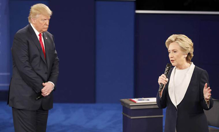 Donald Trump And Hillary Clinton's Face Off In The Second Presidential Debate