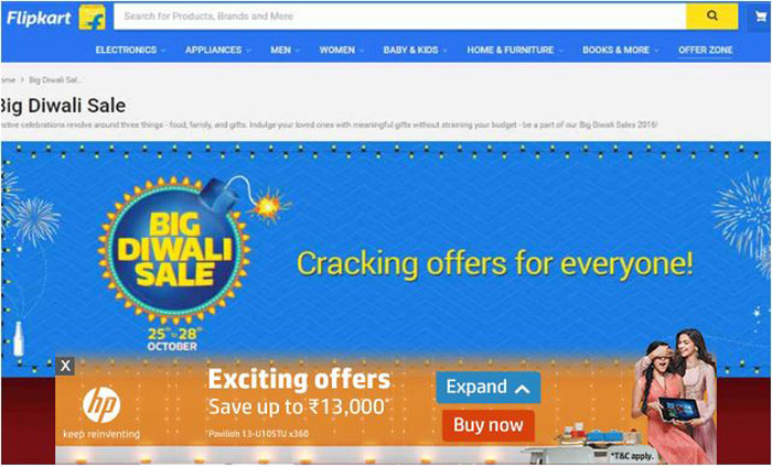 Flipkart Big Diwali Sale Is On From 25th To 27th October