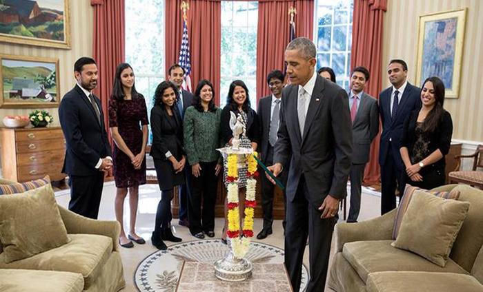 Barack Obama Celebrates Diwali By Lighting First Ever Diya In Oval Office