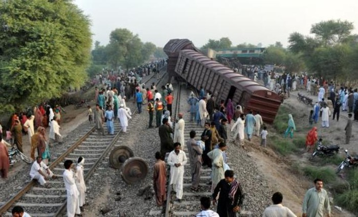 Six Dead After Two Trains Collide In Pakistan