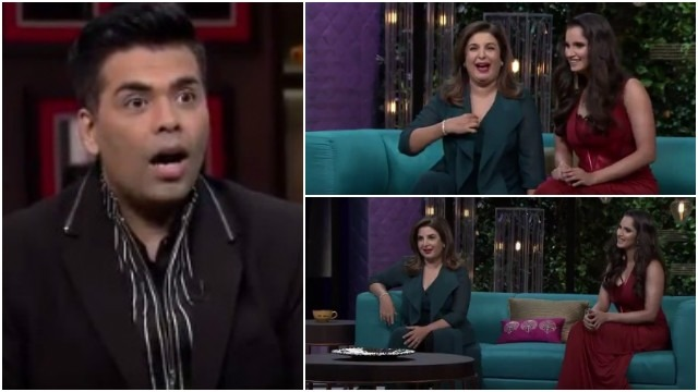 When Two Fireballs Farah Khan And Sania Mirza Took 'Koffee With Karan' To A New Level Of Fun!