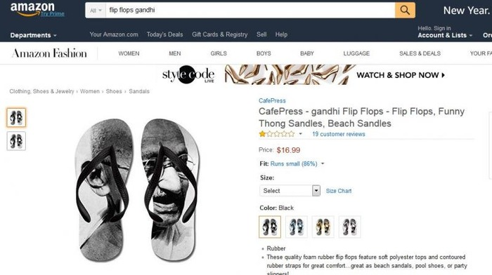 After Indian Flag Doormat, Amazon Takes Down Mahatma Gandhi Flip Flops