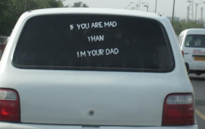 Funny Car Back Quotes Photos