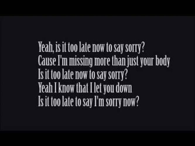 Justin Bieber - Sorry (Lyrics Video)