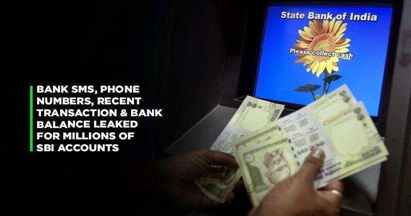 sbi:SBI Hit With Massive Data Leak, Phone Number & Bank Balances Of
