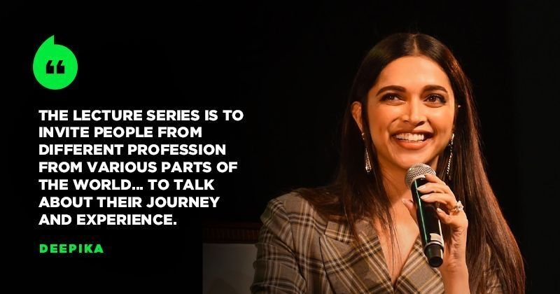 Image result for Deepika Padukone launches lecture series on depression