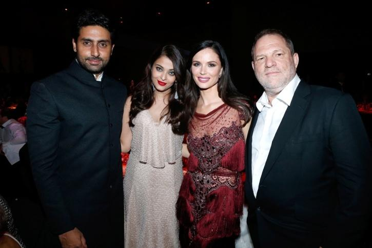 Abhishek Bachchan, Aishwarya Bachchan, Harvey Weinstein and Georgina Chapman
