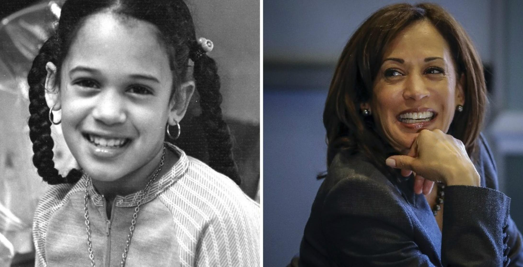Rare Pictures Of Indian Origin Us Vice President Candidate Kamala Harris As A Child