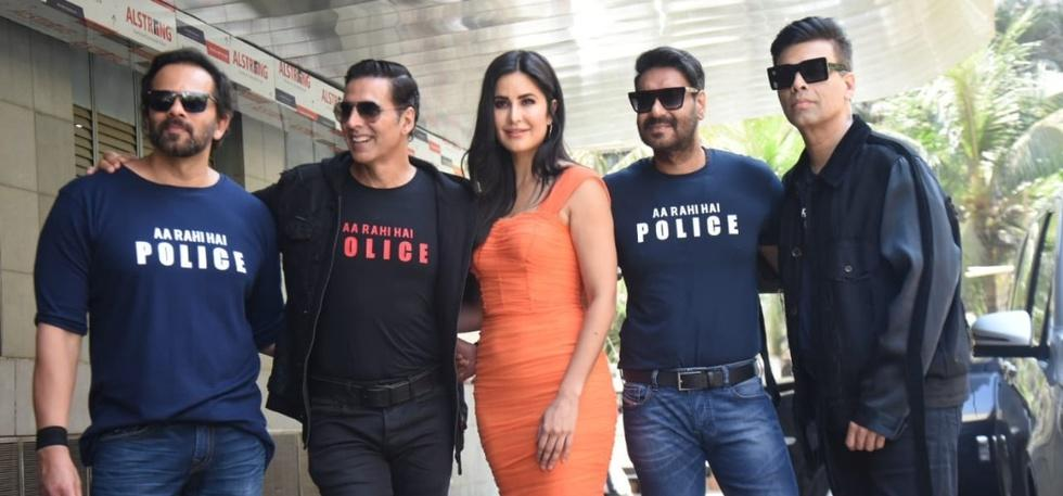 Four Boys And Katrina Kaif At Sooryavanshi Trailer Launch