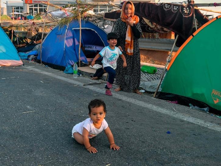 Greek refugee camp